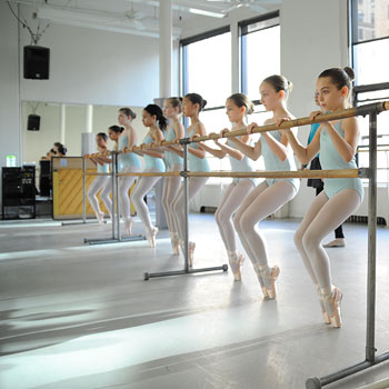 Pre-Professional Students at the Barre